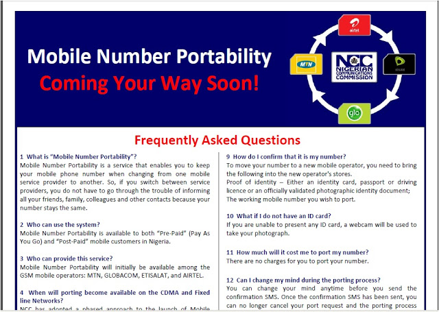 questionnaire on mobile number poratability